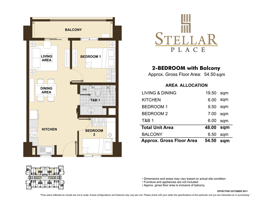 Mid rise condo dmci homes condo for Condo floor plan